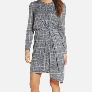 Maggy London | NWT Plaid Side Drape Dress